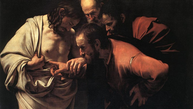 L'incrédulité de saint Thomas, un tableau du Caravage.