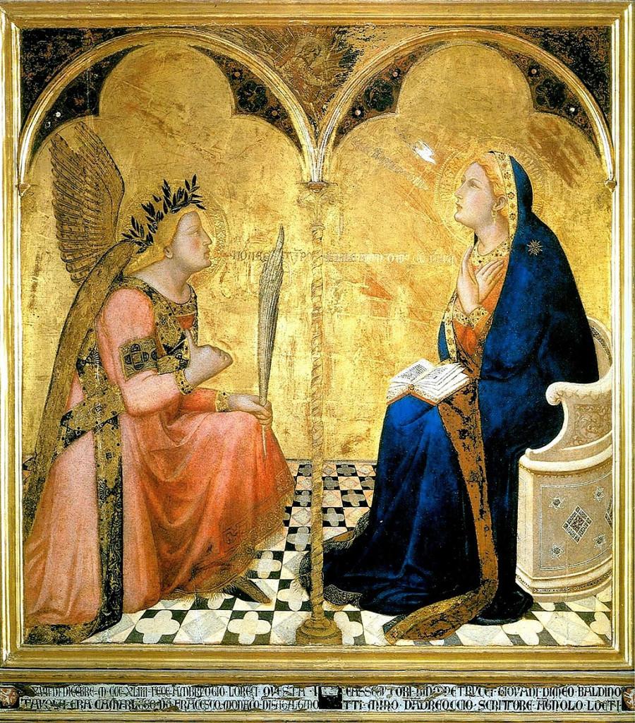 L'Annonciation est un tableau réalisé en 1344 par le peintre siennois Ambrogio Lorenzetti ; destiné à la Sala del Concistoro du Palazzo pubblico de Sienne, il est conservé aujourd'hui à la Pinacothèque nationale de Sienne.