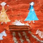 La Nativité, représentée par une famille youtubeuse du diocèse de Meaux : Les petits Pouch.