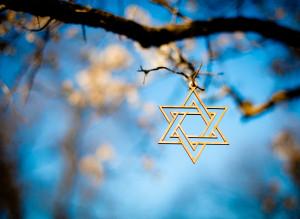 L'étoile de David, symbole de la religion juive.