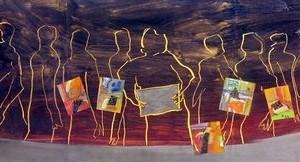 """©Peinture """"Repas de noces"""" de Jacques Cadet."""