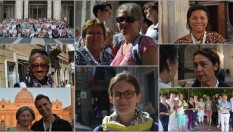 Visages de catéchistes et accompagnateurs du catéchuménat lors du Jubilé des catéchistes à Rome, en Septembre 2016.
