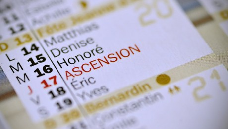 3 avril 2012: Illustration calendrier, jour de l'ascension, France.