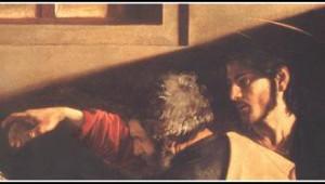 Appel Caravage detail Jésus